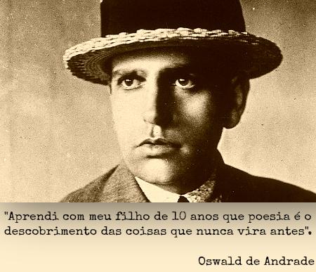 Oswald de Andrade está entre os mais importantes nomes da primeira fase do modernismo brasileiro