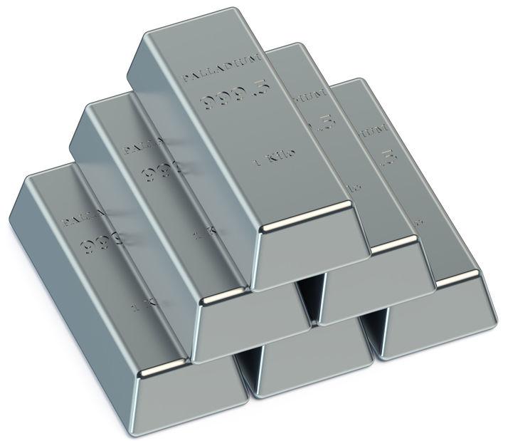 Barras confeccionadas com o metal paládio
