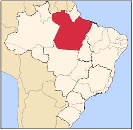 Localização do Pará no mapa do Brasil