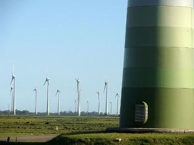 Parque eólico no município de Osório, Rio Grande do Sul (2008) *
