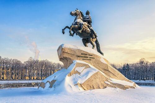 Imagem em homenagem ao czar Pedro I ou Pedro, o Grande, o fundador de São Petersburgo