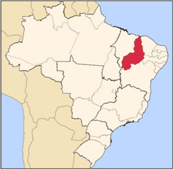 Localização do Piauí no mapa do Brasil