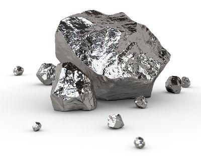 Minério com platina