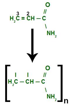 Formação do monômero de poliacrilamida