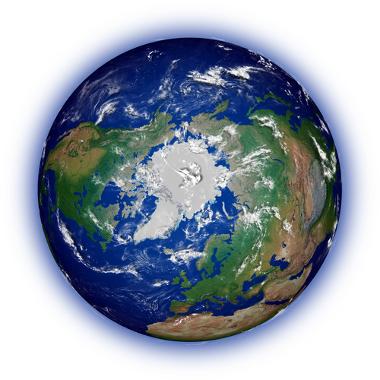 Área geográfica do polo norte, região do Ártico