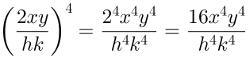 Potenciação de fração algébrica, solução 2