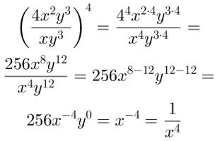 Potenciação de fração algébrica, solução 3