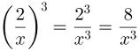 Potenciação de fração algébrica, solução 1