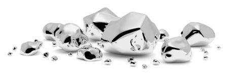 Exemplo de prata pura, separada do minério
