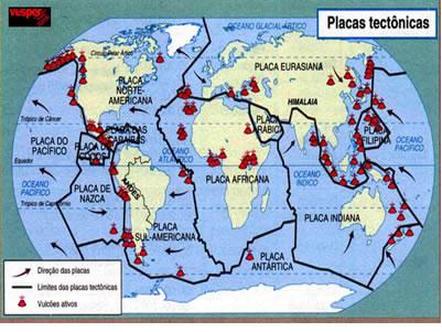 Resultado de imagem para placas tectonicas