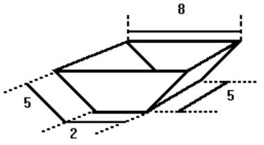 Prisma cuja base é um trapézio