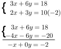 Produto de uma das equações por uma constante