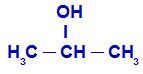 Fórmula estrutural do propano-2-ol
