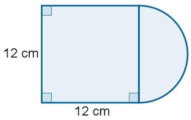 Quadrado com semicírculo