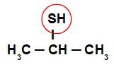 Circulando o SH, sobra o radical isopropil