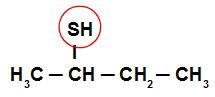 Circulando o SH, sobra o radical Sec-butil
