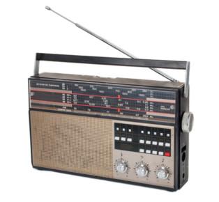 O som que ouvimos pelo rádio é transmitido e recebido por antenas que transmitem ondas hertzianas