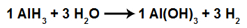 Equação da formação do hidróxido de alumínio