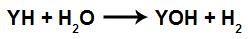 Equação geral de uma reação com hidreto