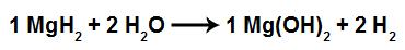 Equação da formação do hidróxido de magnésio