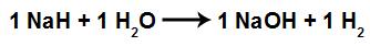 Equação balanceada da formação do hidróxido de sódio