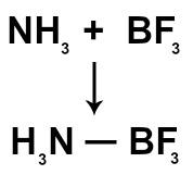 Reação química entre um ácido e uma base de Lewis