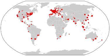 Os principais centros urbanos que estruturam a rede de cidades em nível global