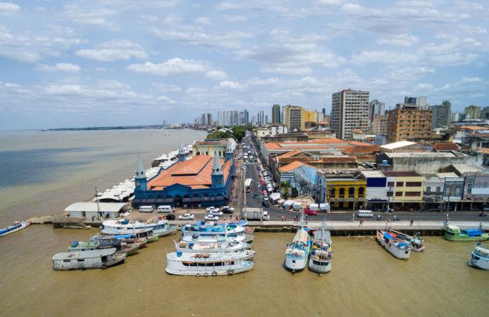Belém é a capital do Pará, considerada uma cidade histórica e portuária.