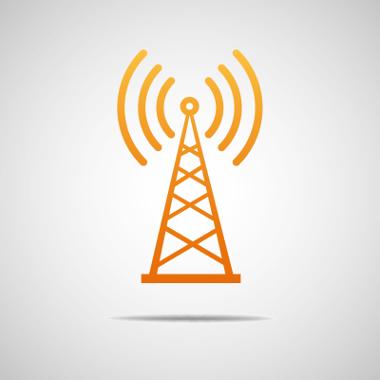 Uma antena irradia seu sinal eletromagnético em todas as direções no espaço