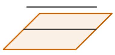Representação gráfica de uma reta paralela a um plano