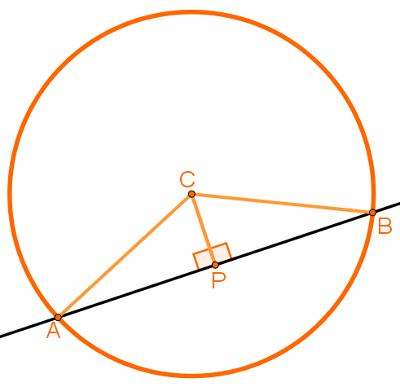 Reta secante à circunferência