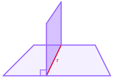 Projeção ortogonal da reta r sobre um plano