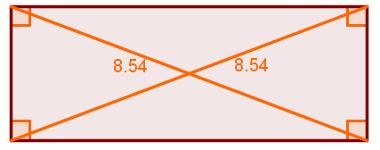 Retângulo: apresenta ângulos retos e diagonais congruentes