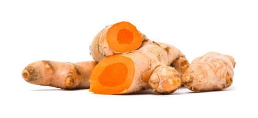 No rizoma da cúrcuma, encontra-se grande quantidade de curcumina.