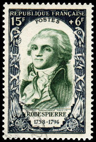 Maximilien Robespierre foi o líder dos jacobinos durante a fase da revolução conhecida como Terror.*