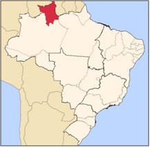 Localização de Roraima no mapa do Brasil