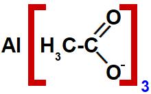 Estrutura de um sal de ácido carboxílico com dois carbonos.