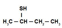 Fórmula estrutural do Sec-butil-mercaptana
