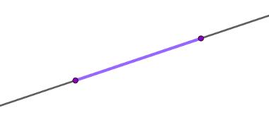 Segmento de reta desenhado em um espaço unidimensional, ou seja, em uma reta