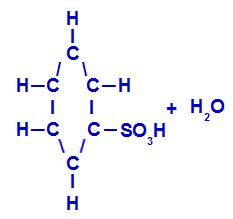 Produtos formados na sulfonação do benzeno