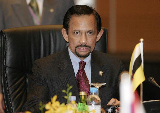 Hassanal Bolkiah é o sultão de Brunei Darussalam desde sua coroação que foi em 1968.**