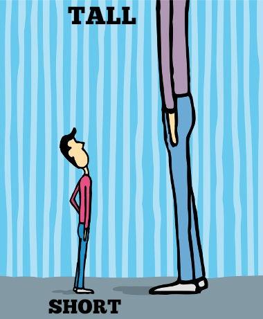 He's very tall! / Ele é muito alto!
