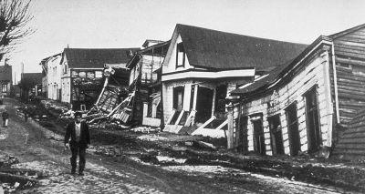 Registro dos impactos gerados pelo terremoto de Valdívia em 1960