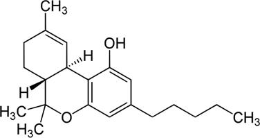 Molécula do tetra-hidrocarbinol (THC)