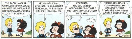 Mafalda, criação do cartunista argentino Quino, é conhecida por suas opiniões ácidas e críticas sobre os mais variados assuntos