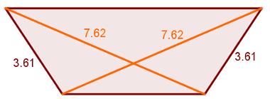 Exemplo de trapézio isósceles