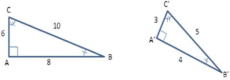 Triângulos do exemplo 1