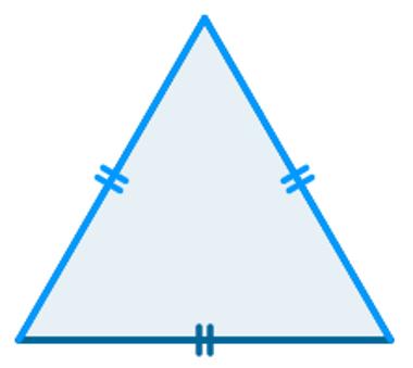 O triângulo equilátero também é isósceles