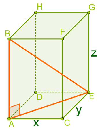 Triângulo retângulo observado no bloco retangular