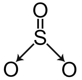 Fórmula estrutural do trióxido de enxofre